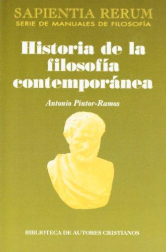 Historia de la filosofía contemporánea: 12 (SAPIENTIA RERUM)