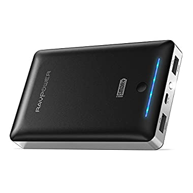 Portable Charger RAVPower 16750mAh Phone Charger Battery, Time-Tested Battery Pack with Dual iSmart 2.0 USB Ports & Flashlight, 4.5A Max Output Power Bank for Nintendo Switch, iPhone & Android Devices