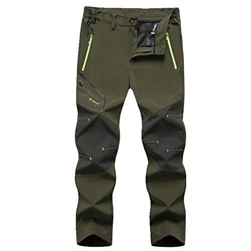 N\P Uomini Estate Stagione Escursionismo Pesca Campeggio Climb Run Pantaloni Plus Size Oversize Impermeabile Pantaloni Outdoor Verde L