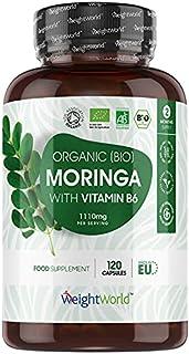 Premium Bio Moringa kapsułki - 1100 mg Moringa Oleifera wysoka dawka - super food bogate w proteiny, aminokwasy i witaminy...