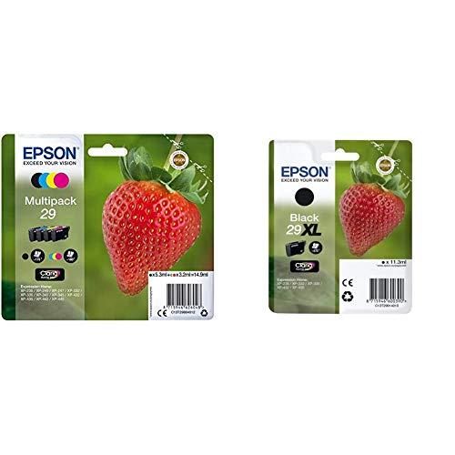 Epson C13T29864012 - Cartucho de tóner para XP235, negro, amarillo, magenta, cian, paquete estándar válido para los modelos + C13T29914022 - Cartucho de Tinta, Xl