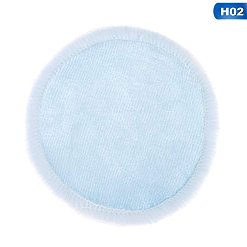 Coton demaquillant lavable 4pcs / lot réutilisables en coton Tapis maquillage couche du visage Remover Double Wipe Pads nettoyage Nail Art Lavable avec Sac à linge Coton demaquillant (Color : 2)