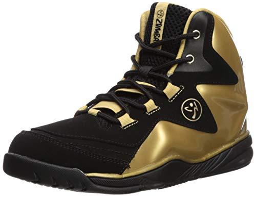 Zumba Fitness Damen Zumba Energy Boom Fitnessschuhe, Schwarz (Gold Metallic/Black 1), 36 EU