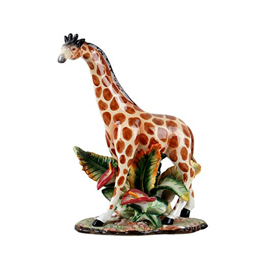 Sculptures For Home Statues And Figurines Ceramic Decor Giraffe Desktop Display Animal Home Living Room Ornaments