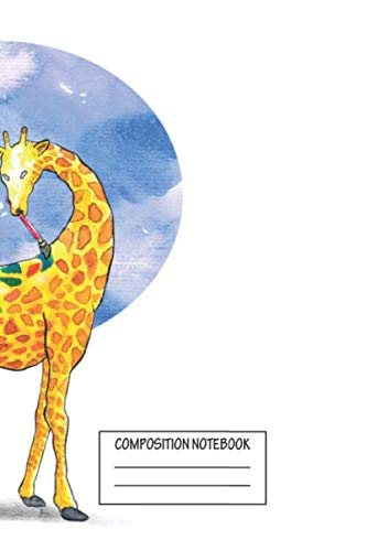 Composition Notebook: Animals Watercolor Painting Artist Giraffe Animal Farm Wide Ruled Note Book, Diary, Planner, Journal for Writing
