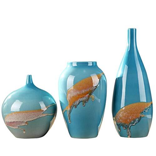 Vase Dekoration Keramik Home Soft Ornament dreiteilige Anzug Dekoration Wohnzimmer Weinkühler Anordnung JXLBB