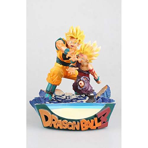 XUEKUN Caracteres Son Goku De Dragon Ball Son Gohan Figura De Acción De 17cm-Shockwave-Padre E Hijo-Goku Gohan Estatua Modelo Animado De Marionetas Escultura De Recuerdo Son Goku-Son Gohan