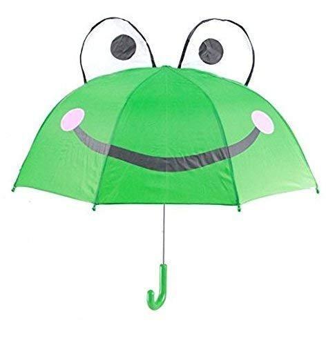 Gwill Lovely Cartoon Animal Rana niños Paraguas para niños niñas y niños bebé Escuela Primaria Estudiantes Paraguas protección Solar Regalo del día de los niños
