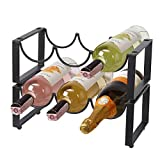 UMI. by Amazon Porte-bouteilles en métal à 2niveaux, pour 6bouteilles de vin, pour bar ou domicile