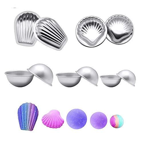 Simon Lee Woodham 10 Stück Metall Badebomben Formen, Metall Badebomben Formen Set, für Die Herstellung von Badebomben, Handgefertigte Seifen und Kunsthandwerk