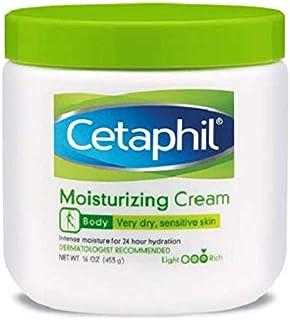 Cetaphil Moisturizing Cream for Dry/Sensitive Skin, Fragrance Free - 453 g