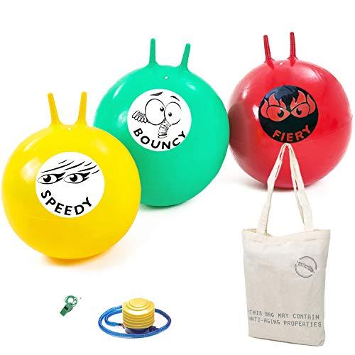 Garden Games Hopping Mad Ballon Sauteur pour Jeu de Course – Trio Pack, 61 Centimètre Taille Adulte