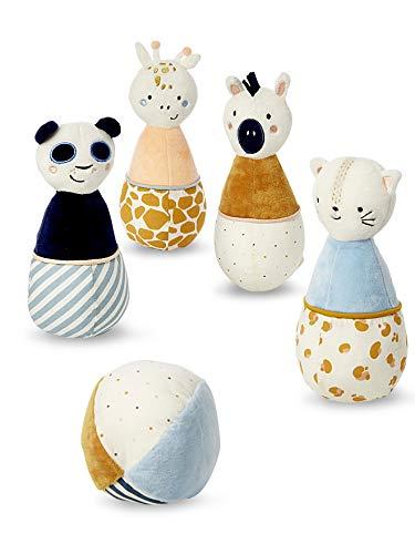 VERTBAUDET Jeu de quilles en tissu Panda multicolore TU