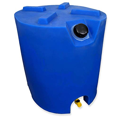 30 Gallon Stackable Emergency Water Storage Tank - 1 Tank & Water Treatment Kit- BPA Free Food Grade Plastic - Survival Supply Barrel - Portable & Reusable
