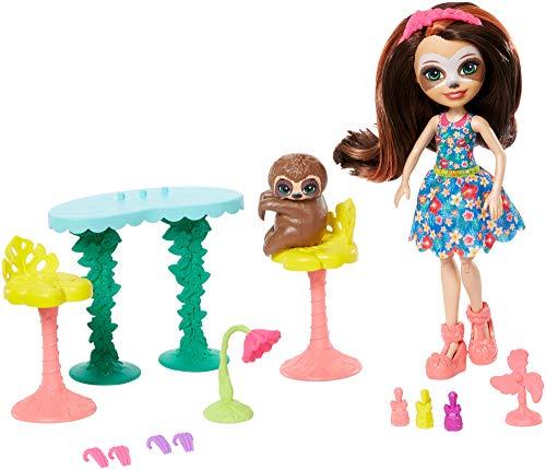 Enchantimals Vamos al spa, muñeca Sela Sloth con mascota Treebody y accesorios (Mattel GFN54) , color/modelo surtido