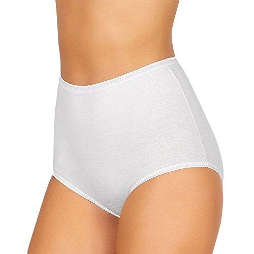 6 culotte vita alta donna JADEA art. 05 cotone taglia 4 alla 10 (6, bianco)
