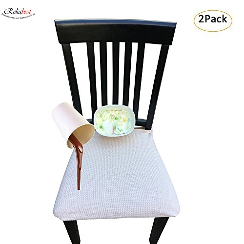 RELIABEST Waterproof Dining Chair Cover Protector - Pack of 2 - Perfect for Pets, Kids, Elderly,...