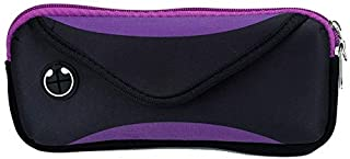 ZHOUJJ Waist Bag Multi-Functional Sports Waterproof Waist Bag for Under 6 Inch Screen Phone, Size: 22x10cm (Black) (Color : Purple)