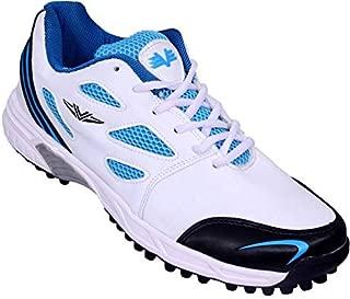 Vijayanti Sports C-15 Sky/White Cricket Shoes for Men