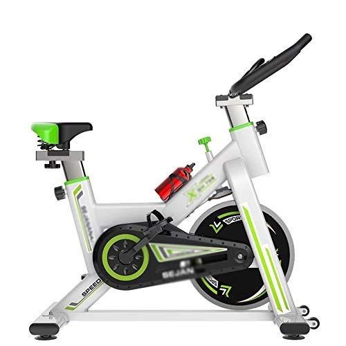 XJWWW-URG Bicicleta estacionaria de transmisión del cinturón Interior de Ciclo del Ejercicio del Monitor LCD Bik Bicicletas W/Manillar Ajustable for el hogar Cardio Workout URG