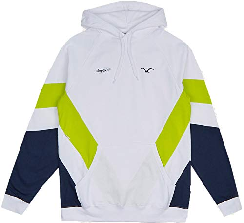 Cleptomanicx That is That 2 Hoodie - White/Lime, S