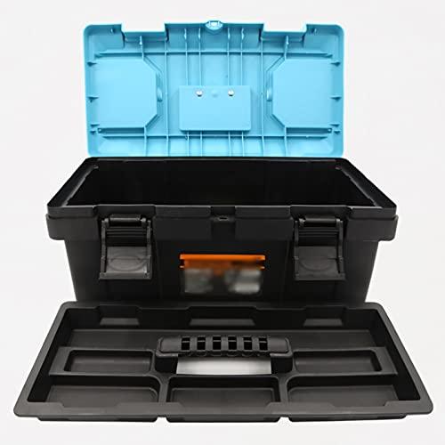 Caja de herramientas de servicio Caja de herramientas con estuche de almacenamiento organizador de hardware de manija con bandeja interna extraíble ligero peso ligero fácil de transportar Maleta multi
