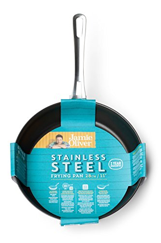 Jamie Oliver Mid Tier Frying Pan 28 cm/Suitable for All Hob Types/Made of Stainless Steel/Dishwasher Safe