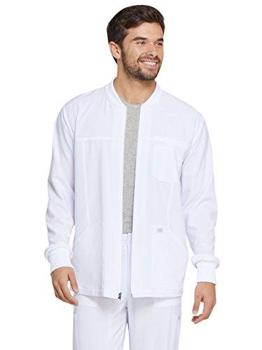 Dickies EDS Essentials Men's Men's Zip Front Warm-Up Jacket, DK320, M, White