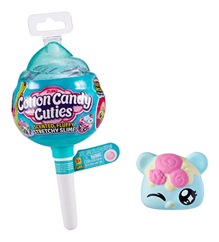 Oosh Cotton Candy Cuties Scented, Squishy, Stretchy Slime with Collectible Cutie Slow Rise Toy (Green) by ZURU
