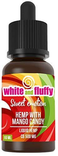 White and Fluffy® 500mg CBD Liquid Test-Note 1,4 • PG VG 10ml• nikotinfrei (Sweet Emotion)