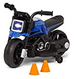 Kid Trax Toddler Motorcycle Kids Ride On Toy, 6 Volt Battery, 1.5-3 Years Old, Max Weight of 44 lbs, Single Rider, Blue