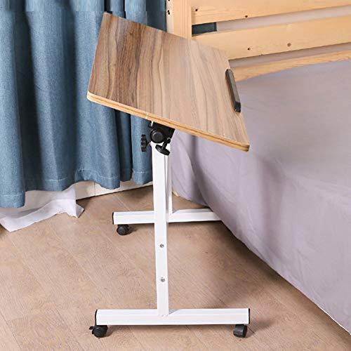ZND Draagbare staande sofa, eenvoudige idee, voor notebook, laptop, bureau, multifunctionele opvouwbare tafel, kan worden gekanteld, in hoogte verstelbare beugel, kunstbord, 3 kleuren, 3 maten 80x40CM Oud eiken