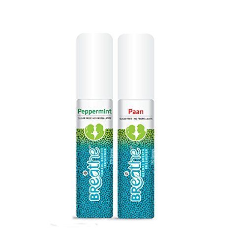 LB BREATHE Mouth Freshener Spray, Peppermint & Paan Flavour