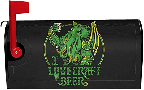 I Lovecraft Beer Mailbox Cover Magnetic Standard Size, Mailbox Covers Wraps Post Letter Box Cover Home Garden Yard Outside Decorative 21x18 in 2021 Gifts