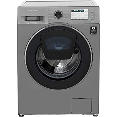 Samsung WW90K5413UX Freestanding Washing Machine with Addwash and Ecobubble, 9kg Load, 1400rpm spin, Graphite