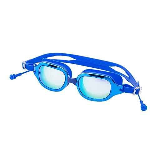 IUANUG Gafas De Natación Blink Profesionales para Piscina Y Mar De Adulto Hombre Y Mujere Anti-UV Puente Fijo Vidrio Antivaho Y Resistente Al Rayado con Doble Correa Ajustable,Azul