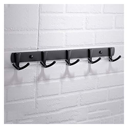 Perchero de pared Perchero montado en la pared Estilo Europeo Negro gancho de la toalla libre de perforación Gancho de pared Baño Ropa que cuelga estante de la pared gancho for la ropa Percha de pared