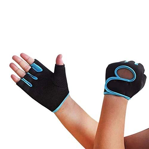 YANODA Multi-Couleurs Femmes Hommes Fitness Exercice Entraînement Fitness Gym Gants De Sport Gants De Sport Formation Randonnée Protect Hands (Color : Blue, Size : L)