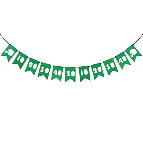 Amosfun Fußball Party Banner Numer 10 bis 50 Ausschnitt Schwalbenschwanzflaggen Super Bowl Dekoration Stoff Bunting Girlande Dekoration für Rugby-Spiel Geburtstag Party Favors