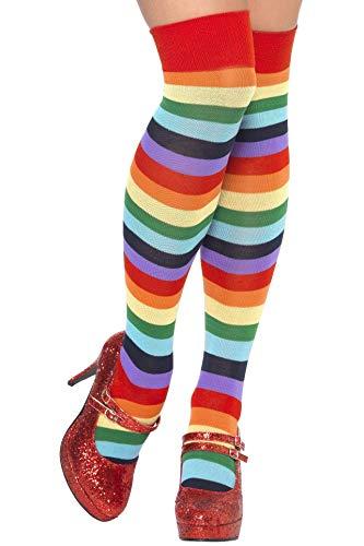 Smiffys Damen Regenbogen Kniestrümpfe, One Size