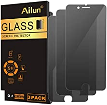 Ailun Screen Protector Compatible with iPhone 8 Plus 7 Plus Privacy Anti Glare 3Pack Tempered Glass [black]