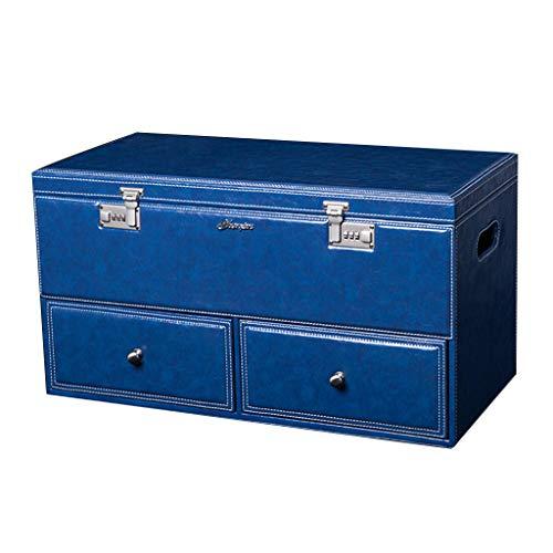 Boîte de Rangement pour Le Coffre de Voiture Boîte de Rangement pour la Voiture Boîte de Rangement pour la Voiture Boîte de Rangement pour la Voiture (Color : Blue, Size : 63.5 * 31.5 * 34.5cm)