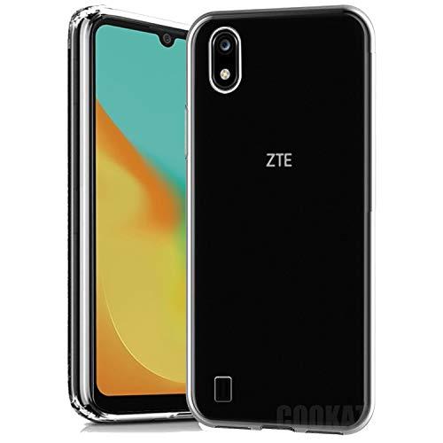 cookaR Funda ZTE Blade A7 2019 HD Cristal, Carcasa Antigolpes Suave Silicona Duradera Caso Protection Cover para Blade A7 2019 Smartphone, Transparente
