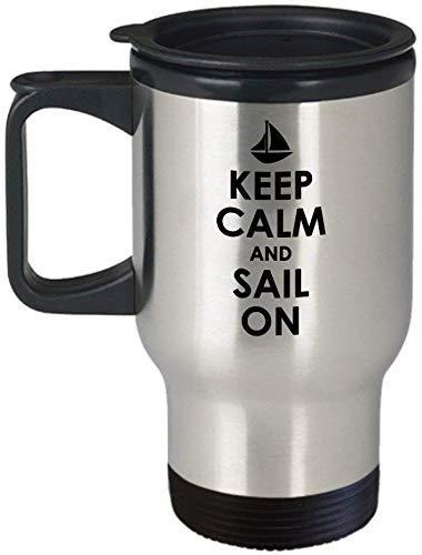 Zeilen Cadeau Idee Zeeman Travel Mok Boating Gift Yachting Cadeau Houd kalm en zeil op