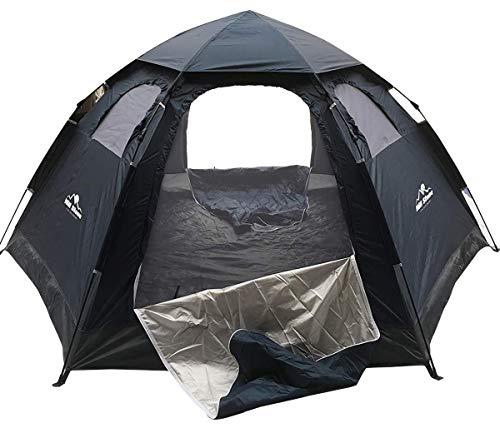 通販のトココ ワンタッチテント ドーム型 5人用 約3.9kg キャンプ UVカット 通気性抜群 蚊帳付き 収納袋付き ネイビー [並行輸入品]