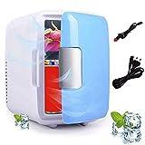 SHKUU ミニ冷蔵庫ミニ冷蔵庫ミニ冷蔵庫ミニ冷凍庫加熱とダブルミニ冷蔵庫カー冷蔵庫カー冷蔵庫ポータブル 4L