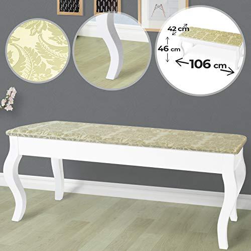 MIADOMODO® Dual Komfortabler Polsterhocker Sitzhocker für Schminktisch Schminkhocker