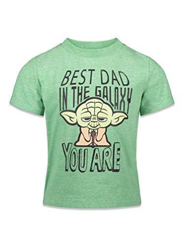 Star Wars Baby Yoda Toddler Boys Short Sleeve T-Shirt 3T Green