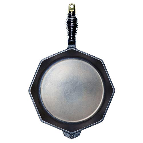 FINEX 12' Cast Iron Skillet, Modern Heirloom, Handcrafted in The USA, Pre-Seasoned with Organic Flaxseed Oil
