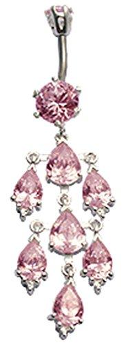 Jewellery-Piercing per ombelico, questo è un bellissimo ciondolo Bellybutton anello, usiamo i migliori cristalli di zirconia cubica